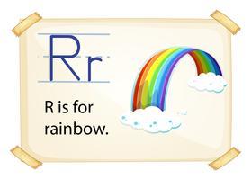 Une lettre R pour arc-en-ciel vecteur