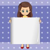 Une dame en colère tenant un affichage vide vecteur