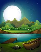 Rivière la nuit