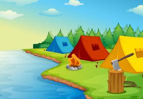 camping vecteur