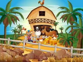Agriculteur et animaux