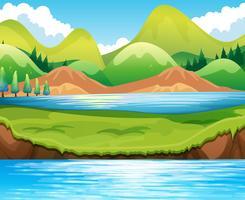 Scène de lac