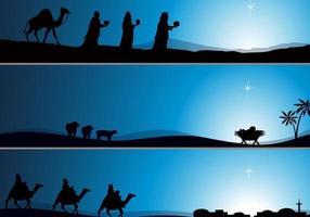 Paquet de vecteur papier peint de la Nativité