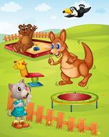 Aire de jeux pour animaux