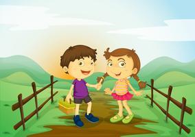 les enfants et les paysages