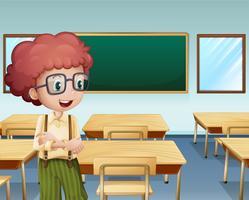 Un garçon dans la classe vecteur