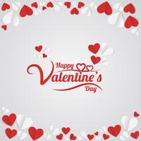 Saint Valentin lettrage à la main vecteur