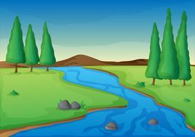 rivière vecteur