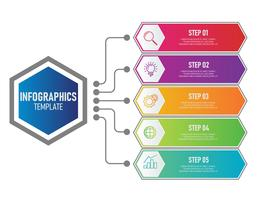 Modèle d'infographie métier vecteur