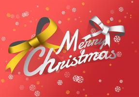 Joyeux Noël luxe fond rouge vecteur