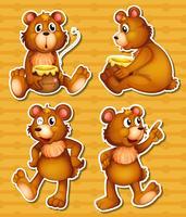 Ours et miel vecteur