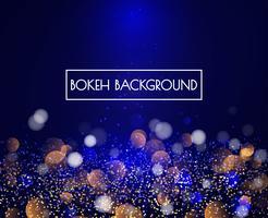 Lumières de bokeh bleu et fond de paillettes vecteur