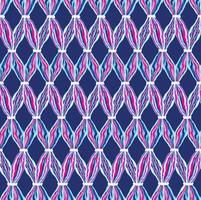 Modèle de tuile abstraite ligne ondulée. Ornement géométrique en laine vecteur