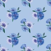 Floral pattern sans soudure. Fond bleu tourbillon fleur.
