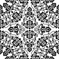 Ornement de ligne tourbillon floral arabe. Modèle sans couture de fleur orientale