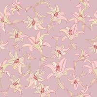 Motif floral Fond transparent de fleurs. Jardin d'ornement s'épanouir vecteur