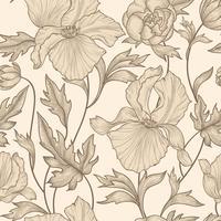 Floral pattern sans soudure. Fond de fleurs. Jardin fleuri au printemps