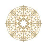 Motif floral rond ornemental. Ornement de fleurs orientales Mandala