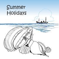 Fond de vacances d'été. Vue sur la mer. Fond d'écran de la station balnéaire