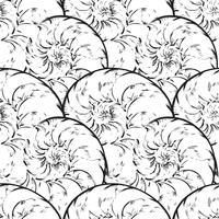 Modèle sans couture spirale abstraite. Fond marin vague nautilus vecteur