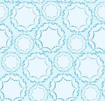 Ornement géométrique floral abstrait. Motif de lignes sans soudure