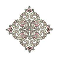 Amulette de mandala ethnique oriental fond. vecteur