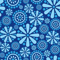 Motif géométrique floral abstrait ornement sans soudure fleur cercle
