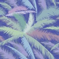 Motif floral Feuilles de palmier. Texture transparente tropicale de l'été vecteur