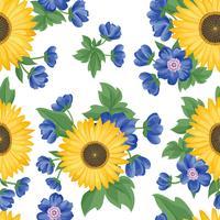 Floral pattern sans soudure. Fond de fleurs. Jardin fleuri vecteur