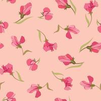 Floral pattern sans soudure. Fond de fleurs. vecteur