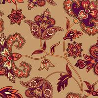 Modèle sans couture asiatique. Fond floral. Fleurs au pays des merveilles vecteur
