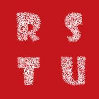 Alphabet Noël hiver vacances décor caractères lettres latines vecteur