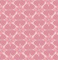 Modèle sans couture floral oriental abstrait. Ornement géométrique de fleurs vecteur
