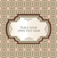 Carte de voeux orientale ou invitation sur motif floral