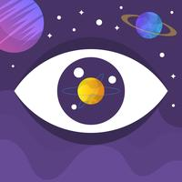 Illustration vectorielle de plat oeil galaxie vecteur