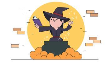 Vecteur de sort de sorcière