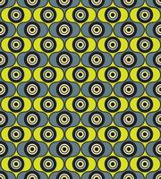 Cercles de fond sans couture. Ornement géométrique élégant vecteur