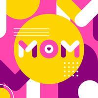 Typographie simple maman