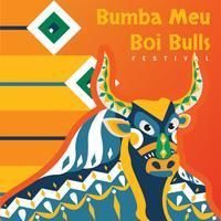 bumba meu boi bulls vector design