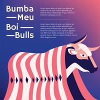 Bumba Meu Boi Bulls Vecteur Desgn