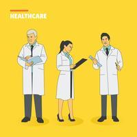 Pack de vecteur de caractères de soins de santé