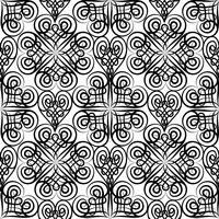 Abstrait motif floral sans soudure celtique. Ligne ornement oriental
