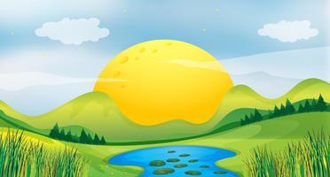 Coucher de soleil vecteur