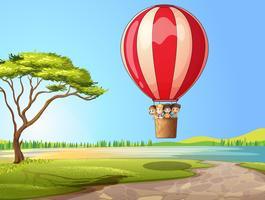 Enfants dans une montgolfière