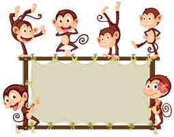 Bannière de singe vecteur