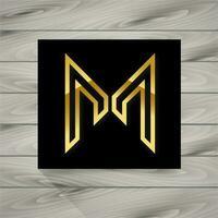 lettre concept m logo vecteur