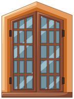 Design de fenêtre avec cadre en bois