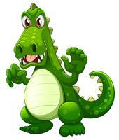 Un crocodile en colère vecteur