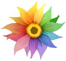 Une fleur arc en ciel vecteur