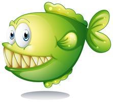 Un piranha vert vecteur